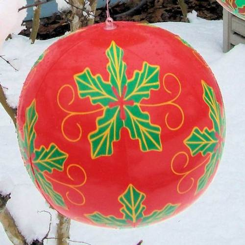 12 Inch Inflatable Red Christmas Ornament Balloon