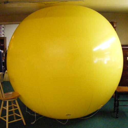 8 Foot Tall Solid Yellow Round Balloon