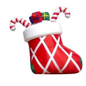 15 Foot Tall Christmas Stocking Balloon