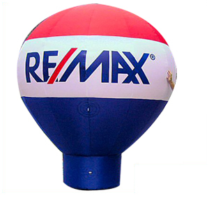 10' TALL NEW COLD AIR REMAX BALLOON WITH BLOWER
