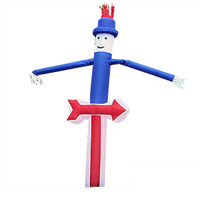 Red White And Blue Air Dancer w/arrow