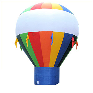 10 Foot Tall Hot Air Shaped Multi-Color Cold Air Balloon